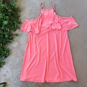 1. State Nordstrom Coral Off Shoulder Dress